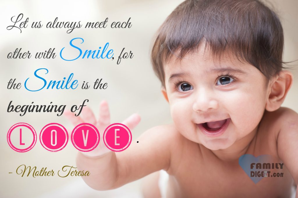 Love Quote - Let us always meet each other with Smile, for the Smile is the Beginning of LOVE - FamilyDigezt