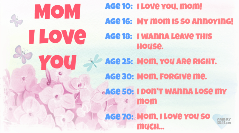 Family Quotes - Mom, I Love You